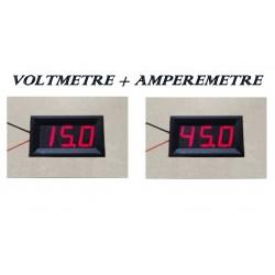 Voltmètre + Ampèremètre