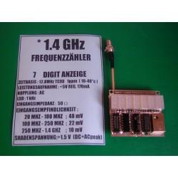 Fréquencemètre 1,4 Ghz