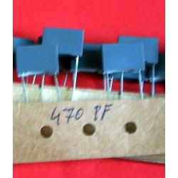 3 x capacités 470 pf  / 63 V